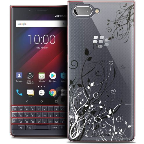 "Coque Crystal Gel BlackBerry Key2 LE (4.5"") Extra Fine Love - Hearts Flowers"
