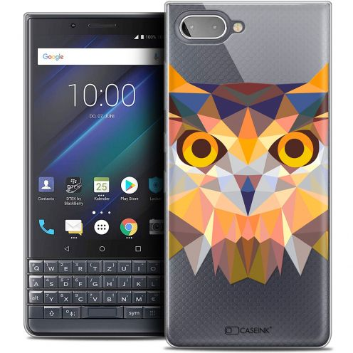 "Coque Crystal Gel BlackBerry Key2 LE (4.5"") Extra Fine Polygon Animals - Hibou"