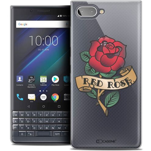 "Coque Crystal Gel BlackBerry Key2 LE (4.5"") Extra Fine Tatoo Lover - Red Rose"