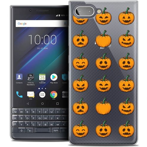 "Coque Crystal Gel BlackBerry Key2 LE (4.5"") Extra Fine Halloween - Smiley Citrouille"