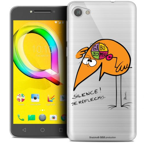 """Coque Gel Alcatel A5 LED (5.2"""") Extra Fine Les Shadoks® - Silence !"""