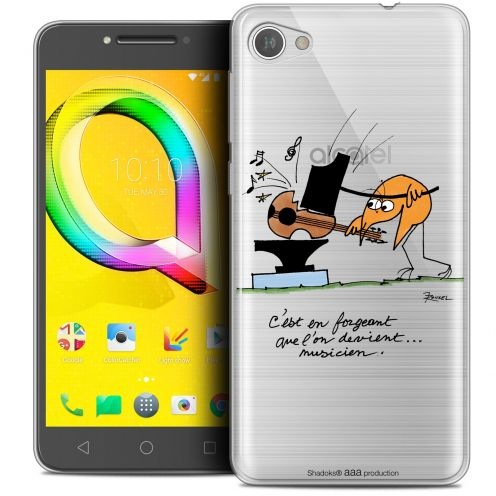 "Coque Gel Alcatel A5 LED (5.2"") Extra Fine Les Shadoks® - Musicien"