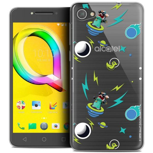 """Coque Gel Alcatel A5 LED (5.2"""") Extra Fine Lapins Crétins™ - Space 1"""