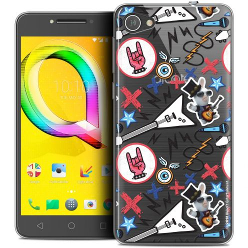 """Coque Gel Alcatel A5 LED (5.2"""") Extra Fine Lapins Crétins™ - Rock Pattern"""