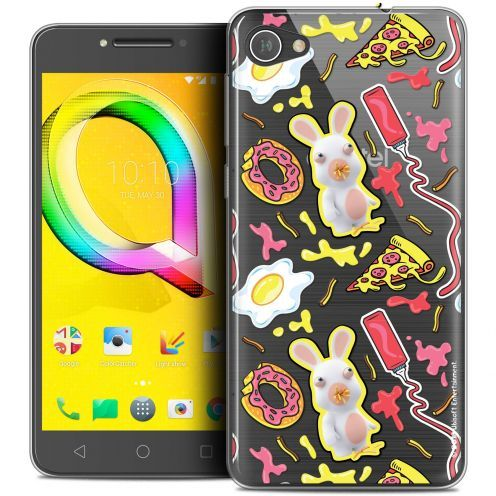 """Coque Gel Alcatel A5 LED (5.2"""") Extra Fine Lapins Crétins™ - Egg Pattern"""