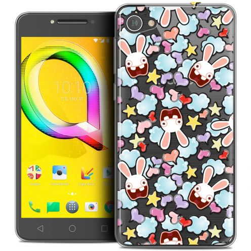 "Coque Gel Alcatel A5 LED (5.2"") Extra Fine Lapins Crétins™ - Love Pattern"