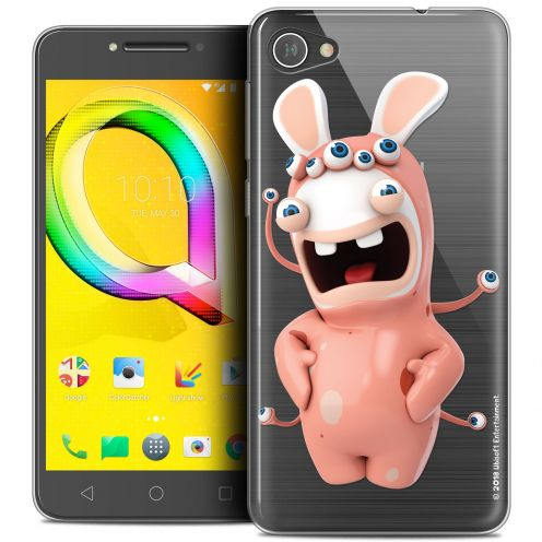 """Coque Gel Alcatel A5 LED (5.2"""") Extra Fine Lapins Crétins™ - Extraterrestre"""