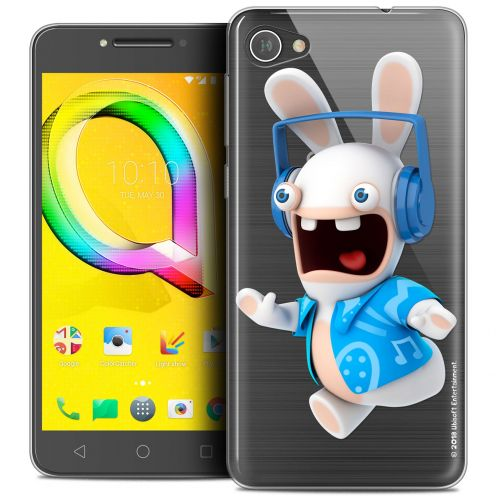 """Coque Gel Alcatel A5 LED (5.2"""") Extra Fine Lapins Crétins™ - Techno Lapin"""