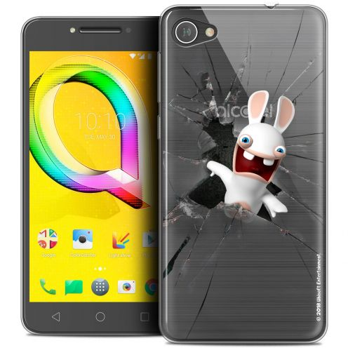 """Coque Gel Alcatel A5 LED (5.2"""") Extra Fine Lapins Crétins™ - Breaking Glass"""