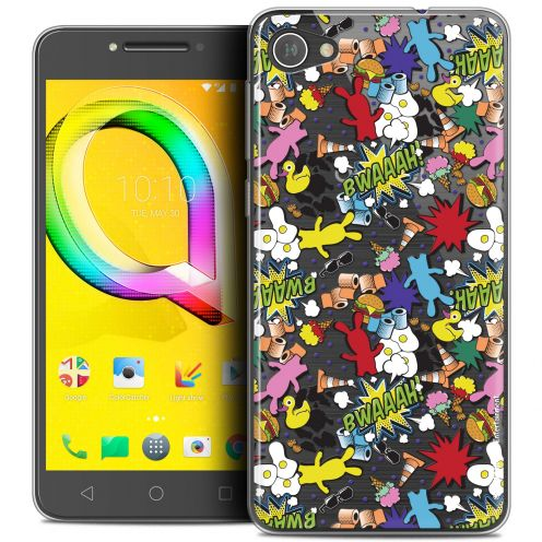"""Coque Gel Alcatel A5 LED (5.2"""") Extra Fine Lapins Crétins™ - Bwaaah Pattern"""