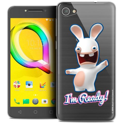 """Coque Gel Alcatel A5 LED (5.2"""") Extra Fine Lapins Crétins™ - I'm Ready !"""