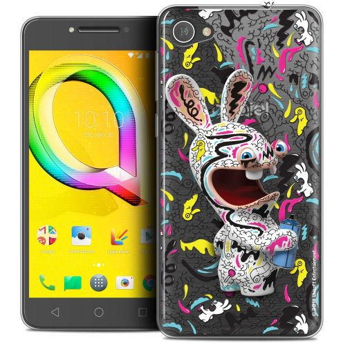 """Coque Gel Alcatel A5 LED (5.2"""") Extra Fine Lapins Crétins™ - Tag"""
