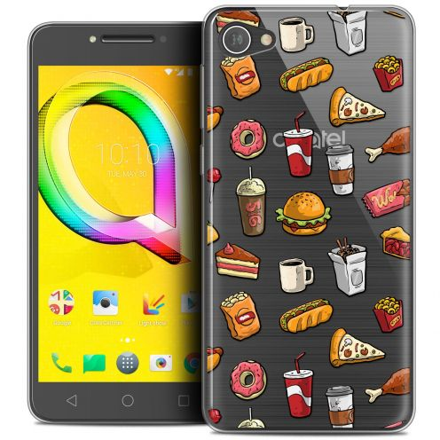 "Coque Crystal Gel Alcatel A5 LED (5.2"") Extra Fine Foodie - Fast Food"