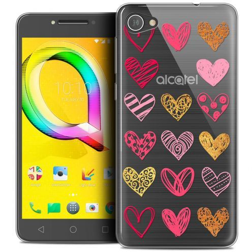 "Coque Crystal Gel Alcatel A5 LED (5.2"") Extra Fine Sweetie - Doodling Hearts"