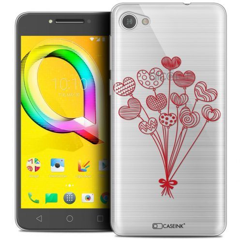 "Coque Crystal Gel Alcatel A5 LED (5.2"") Extra Fine Love - Ballons d'amour"