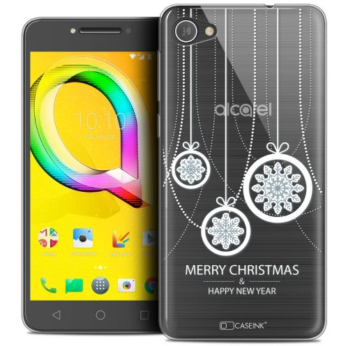 "Coque Crystal Gel Alcatel A5 LED (5.2"") Extra Fine Noël 2017 - Christmas Balls"