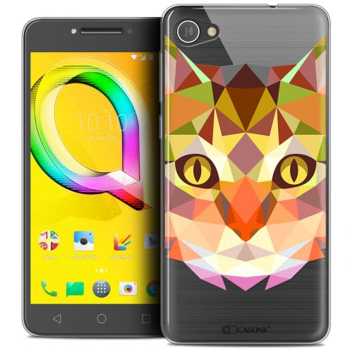 """Coque Crystal Gel Alcatel A5 LED (5.2"""") Extra Fine Polygon Animals - Chat"""