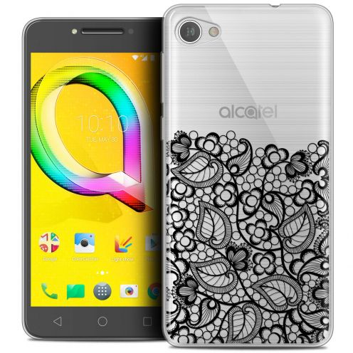 "Coque Crystal Gel Alcatel A5 LED (5.2"") Extra Fine Spring - Bas dentelle Noir"