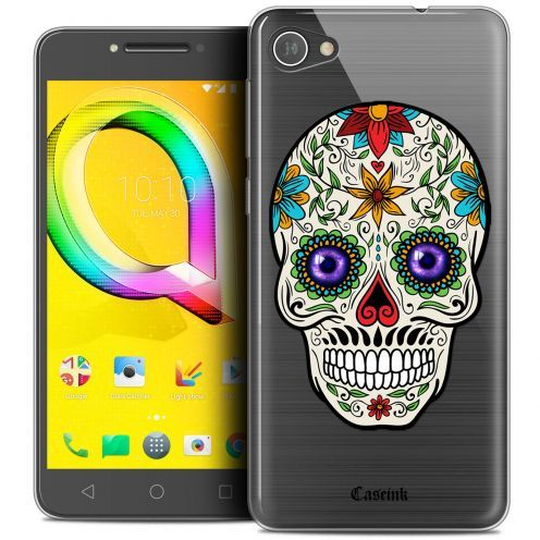 "Coque Crystal Gel Alcatel A5 LED (5.2"") Extra Fine Skull - Maria's Flower"