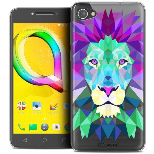 "Coque Crystal Gel Alcatel A5 LED (5.2"") Extra Fine Polygon Animals - Lion"