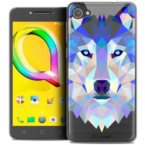 """Coque Crystal Gel Alcatel A5 LED (5.2"""") Extra Fine Polygon Animals - Loup"""