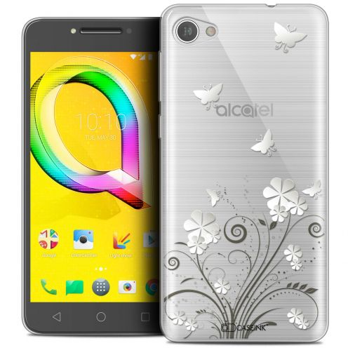 "Coque Crystal Gel Alcatel A5 LED (5.2"") Extra Fine Summer - Papillons"