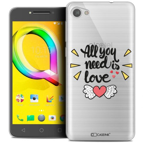 "Coque Crystal Gel Alcatel A5 LED (5.2"") Extra Fine Love - All U Need Is"