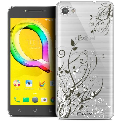 "Coque Crystal Gel Alcatel A5 LED (5.2"") Extra Fine Love - Hearts Flowers"