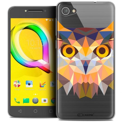 "Coque Crystal Gel Alcatel A5 LED (5.2"") Extra Fine Polygon Animals - Hibou"