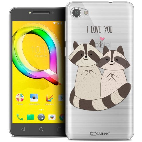 """Coque Crystal Gel Alcatel A5 LED (5.2"""") Extra Fine Sweetie - Racoon Love"""