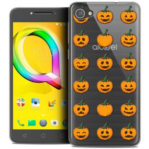 """Coque Crystal Gel Alcatel A5 LED (5.2"""") Extra Fine Halloween - Smiley Citrouille"""