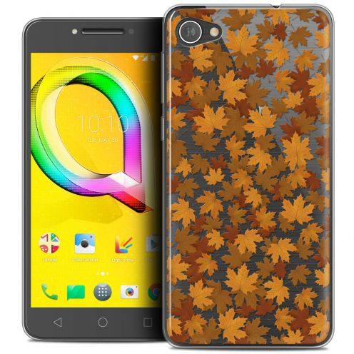 "Coque Crystal Gel Alcatel A5 LED (5.2"") Extra Fine Autumn 16 - Feuilles"