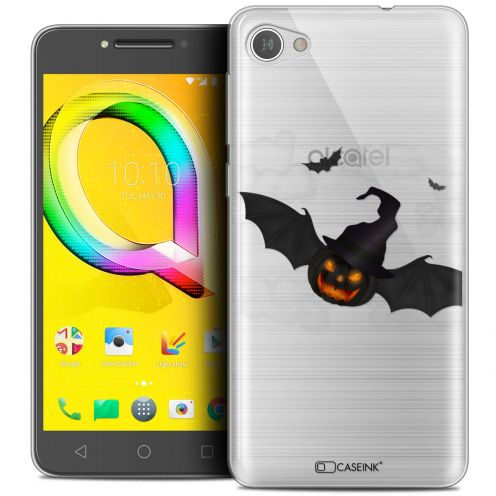 "Coque Crystal Gel Alcatel A5 LED (5.2"") Extra Fine Halloween - Chauve Citrouille"