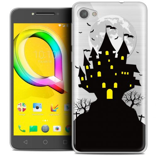 "Coque Crystal Gel Alcatel A5 LED (5.2"") Extra Fine Halloween - Castle Scream"