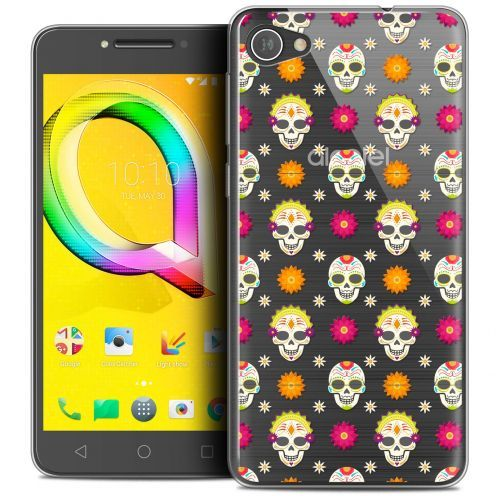 "Coque Crystal Gel Alcatel A5 LED (5.2"") Extra Fine Halloween - Skull Halloween"