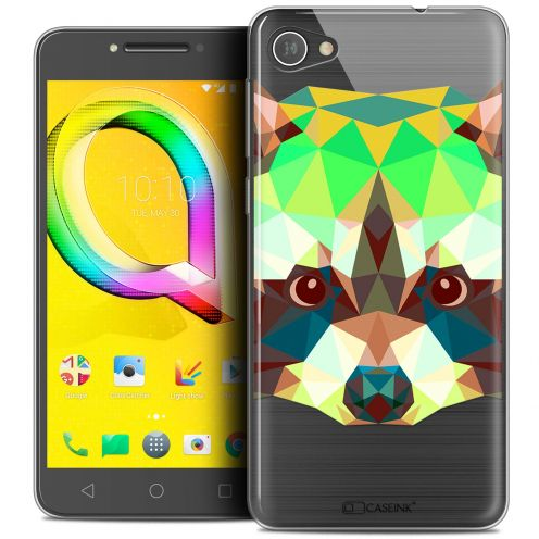 "Coque Crystal Gel Alcatel A5 LED (5.2"") Extra Fine Polygon Animals - Raton Laveur"