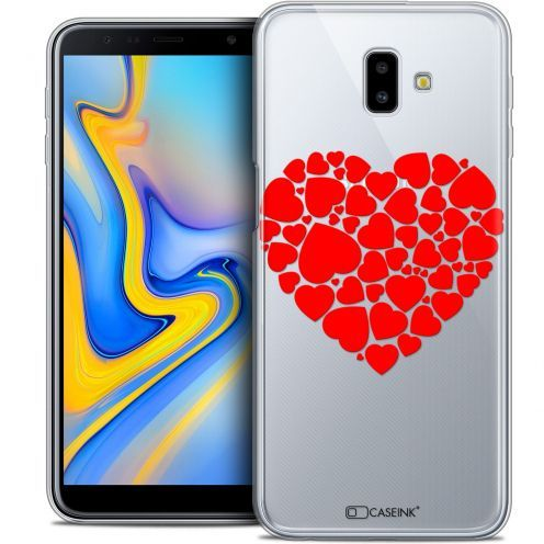 "Coque Crystal Gel Samsung Galaxy J6 Plus J6+ (6.4"") Extra Fine Love - Coeur des Coeurs"