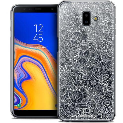 """Coque Crystal Gel Samsung Galaxy J6 Plus J6+ (6.4"""") Extra Fine Dentelle Florale - Blanc"""