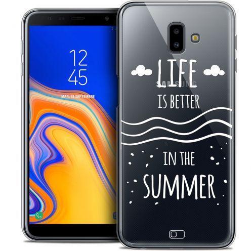 "Coque Crystal Gel Samsung Galaxy J6 Plus J6+ (6.4"") Extra Fine Summer - Life's Better"