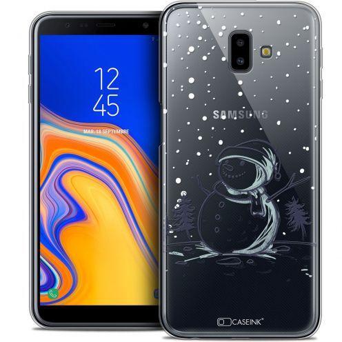 "Coque Crystal Gel Samsung Galaxy J6 Plus J6+ (6.4"") Extra Fine Noël 2017 - Bonhomme de Neige"
