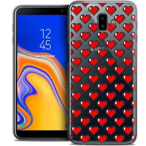"Coque Crystal Gel Samsung Galaxy J6 Plus J6+ (6.4"") Extra Fine Love - Pixel Art"