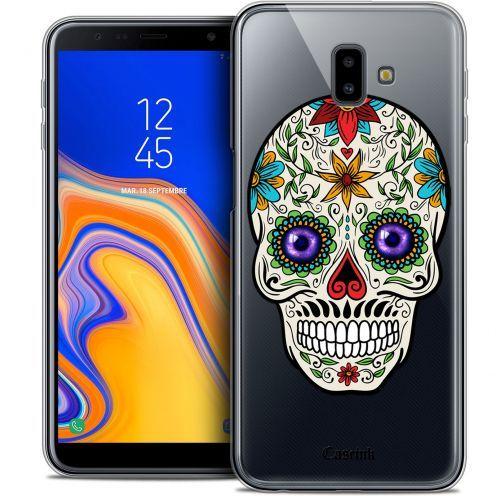 """Coque Crystal Gel Samsung Galaxy J6 Plus J6+ (6.4"""") Extra Fine Skull - Maria's Flower"""
