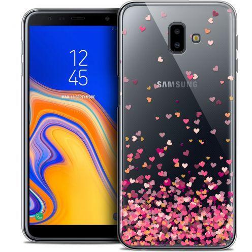"Coque Crystal Gel Samsung Galaxy J6 Plus J6+ (6.4"") Extra Fine Sweetie - Heart Flakes"