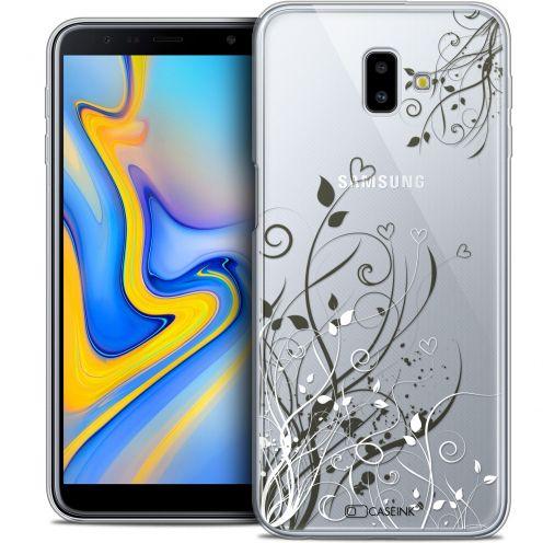 "Coque Crystal Gel Samsung Galaxy J6 Plus J6+ (6.4"") Extra Fine Love - Hearts Flowers"