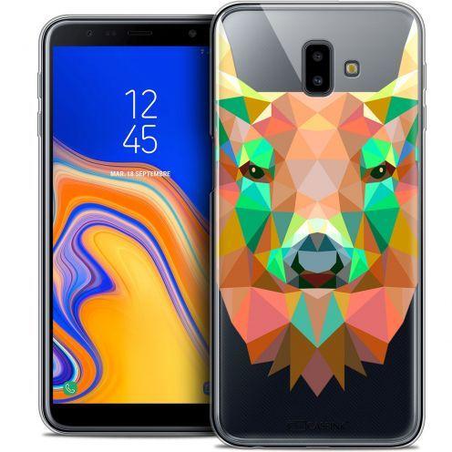 """Coque Crystal Gel Samsung Galaxy J6 Plus J6+ (6.4"""") Extra Fine Polygon Animals - Cerf"""