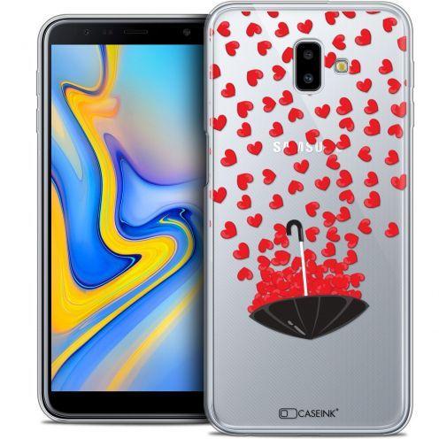 "Coque Crystal Gel Samsung Galaxy J6 Plus J6+ (6.4"") Extra Fine Love - Parapluie d'Amour"