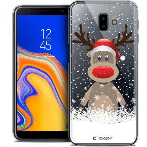 """Coque Crystal Gel Samsung Galaxy J6 Plus J6+ (6.4"""") Extra Fine Noël 2017 - Cerf au Bonnet"""