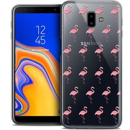 "Coque Crystal Gel Samsung Galaxy J6 Plus J6+ (6.4"") Extra Fine Pattern - Les flamants Roses"