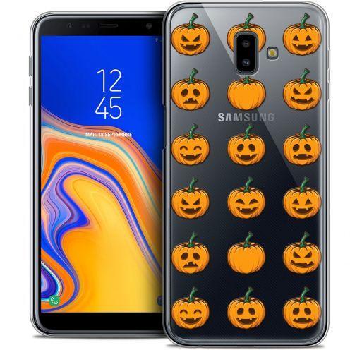 "Coque Crystal Gel Samsung Galaxy J6 Plus J6+ (6.4"") Extra Fine Halloween - Smiley Citrouille"