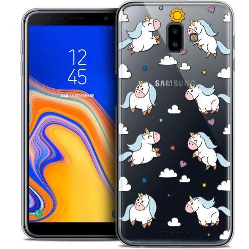 "Coque Crystal Gel Samsung Galaxy J6 Plus J6+ (6.4"") Extra Fine Fantasia - Licorne In the Sky"